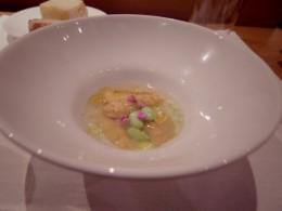 雲丹とまめの冷菜。私が、最後の晩餐にと言ったら、この料理を子どんぶりいっぱい食べたい!言葉を失うほど美味しい!