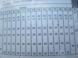 帰りのメストレ駅までのバスの時刻表