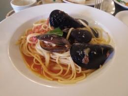 ムール貝のトマトパスタ