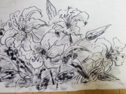 カサブランカ。墨だけで描きました
