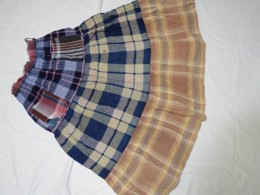 長いこと着たテイヤードスカート