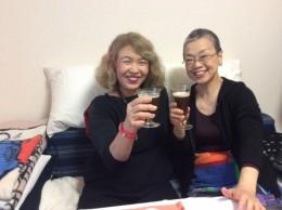 美代さんとベルギービールで乾杯!