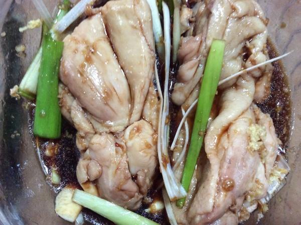 鶏肉の醤油漬け