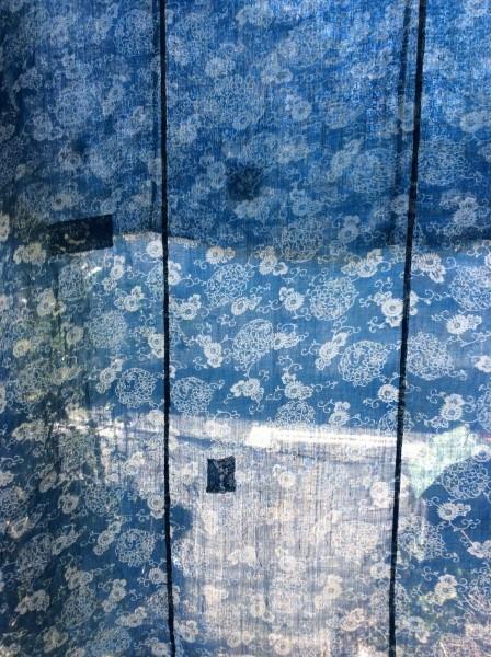 麻の布団。型染。涼しい夏の服が出来そうです。
