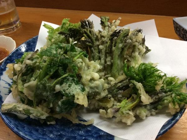 山菜の天麩羅。