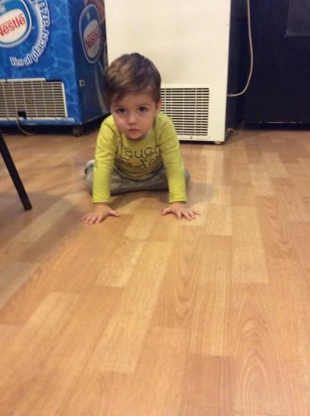 可愛い男の子がチョロチョロ。1才5ヶ月だそうです。