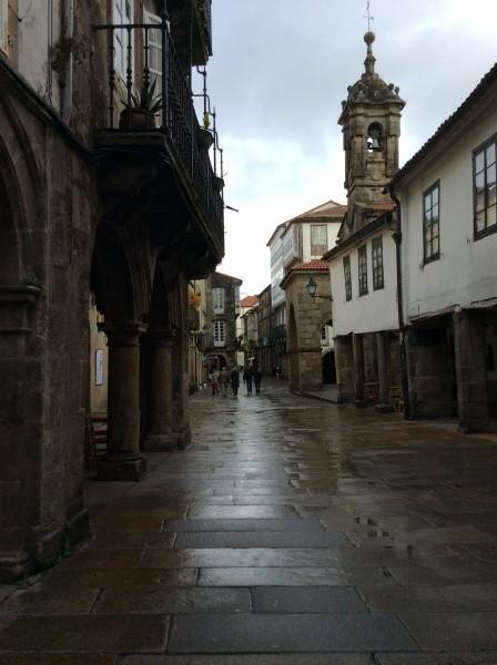 雨が止んだ。サンチャゴの町。