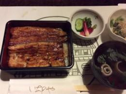 西麻布いちのやの鰻定食。