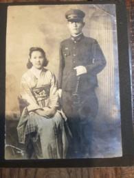 昭和19年。 結婚した頃の父と母。 母19歳。父26歳。