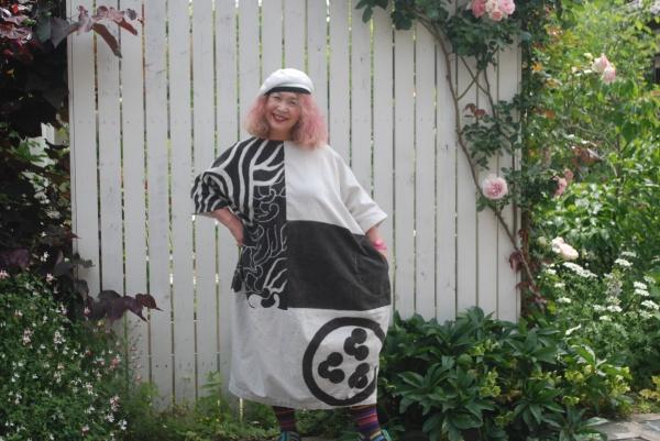 山陰祝い節句旗。波。 手織りなので、風合いが良いです。時代は江戸期。古い布です。