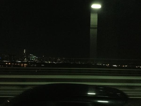 ベイブリジから、MMの夜景を見る。