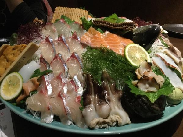 九州のお刺身は美味しい。