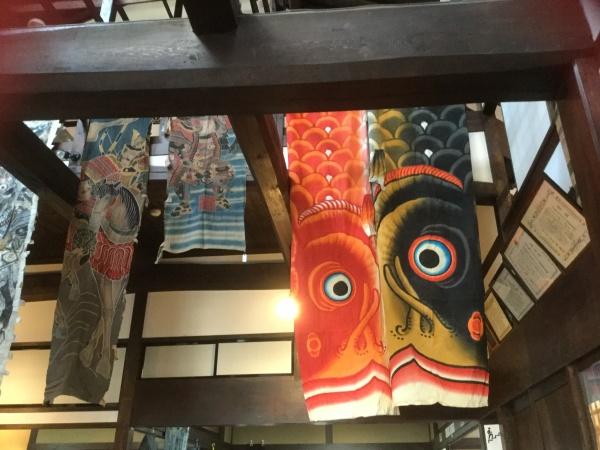 松本蔵シック館の梁に展示ていました。 凄い迫力でした。