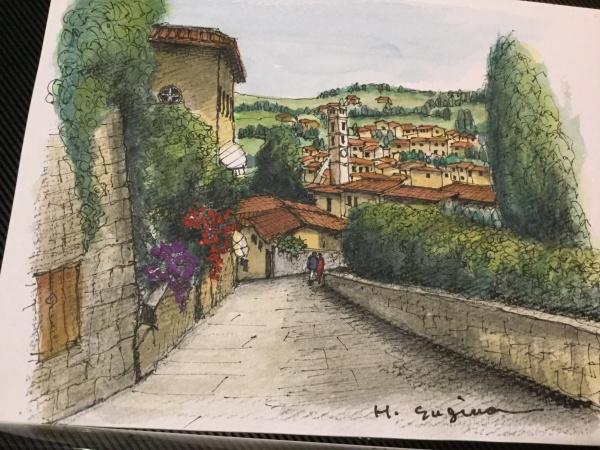 イタリア旅行フレンッエ、フェーゾレの丘