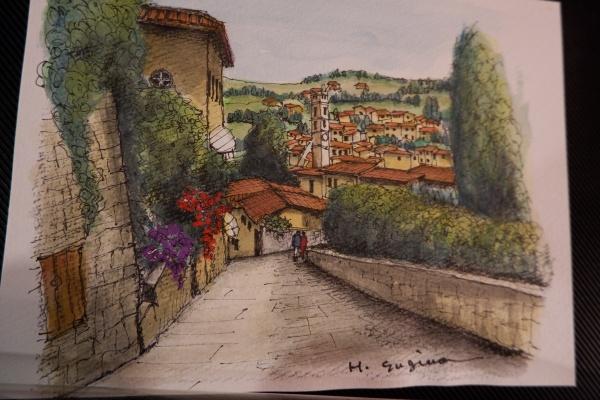 イタリアフェレンツエのフェーゾレの丘。 お気に入りの丘でした。
