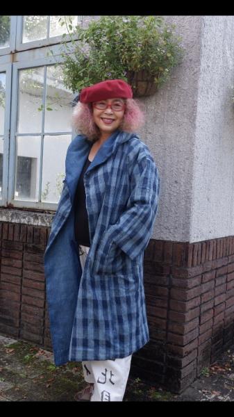 兵庫県丹波地方の300年の伝わる手機織りの木綿布。 肌触りの良く、色も綺麗。 現在では工芸文化財となっている希少な物。