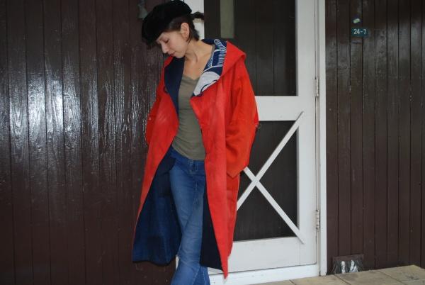 紅花染めフードコート(13-39)sold out