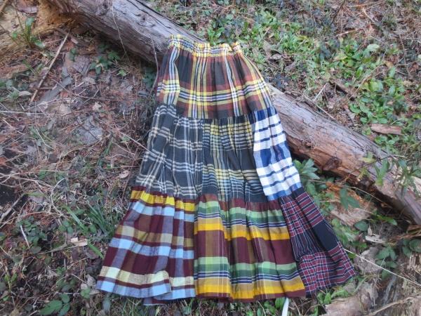 格子テイヤードスカート(14-22)