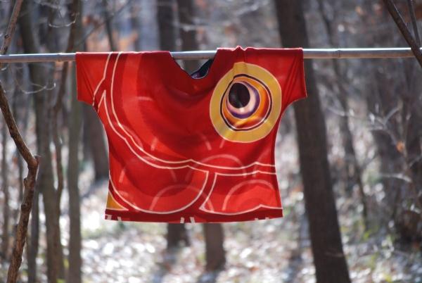 ブラウス 赤カットソー 0247