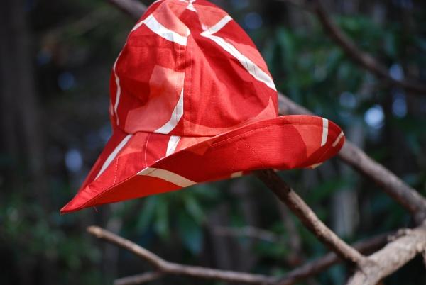 鯉幟帽子 赤 0263